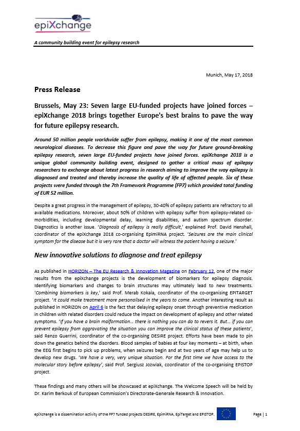 EPIXCHANGE press release p1